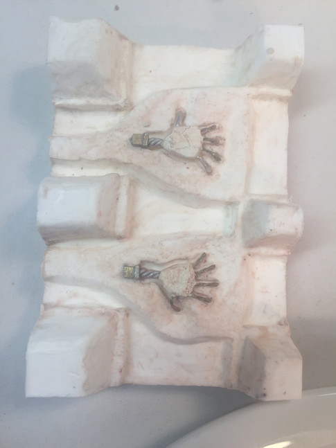 Hand armatures in Mold