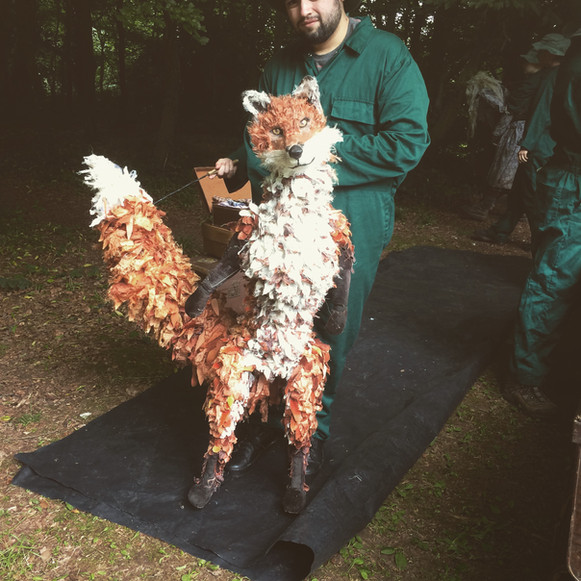 Fox with his Puppeteer