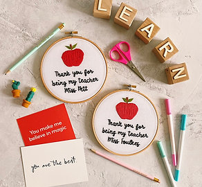 Thank You For Being My Teacher Embroidery Hoop