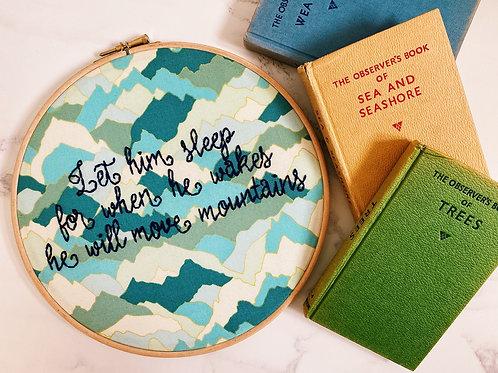 Let Him Sleep Embroidery Hoop