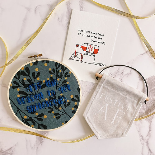 T'is The Season To Get Shitfaced Embroidery Hoop