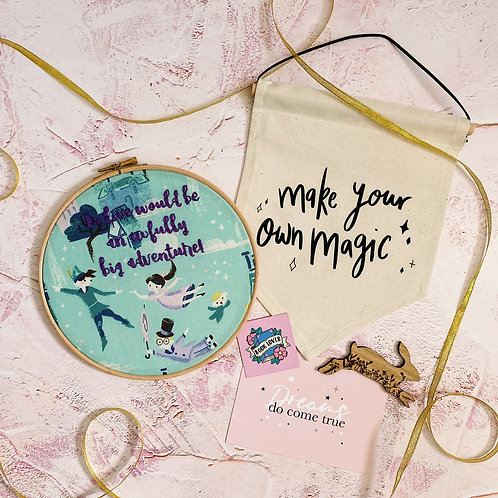 To Live Would Be An Awfully Big Adventure Embroidery Hoop