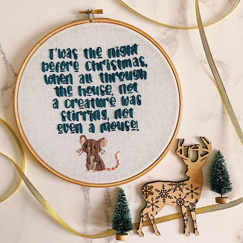 T'was The Night Before Christmas Embroidery Hoop