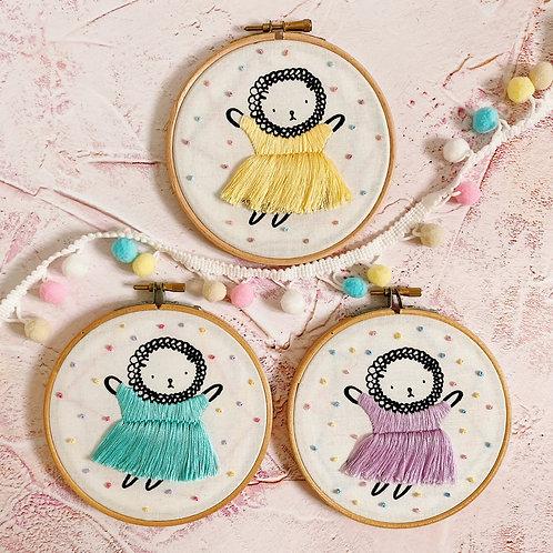Isabella Ballerina Embroidery Hoop