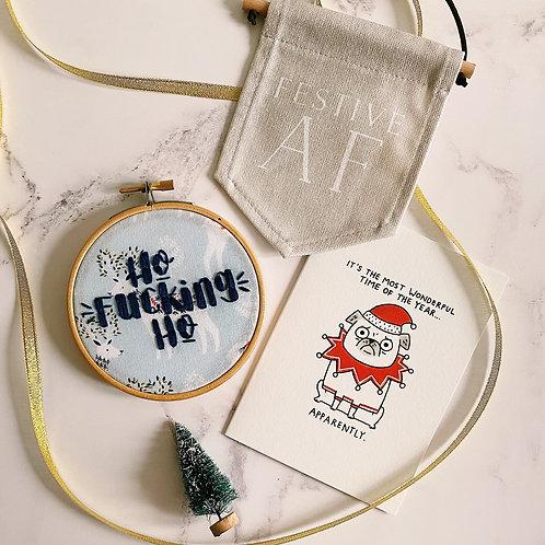 Ho Fucking Ho Embroidery Hoop