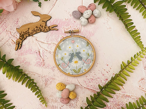 Meadow Mice Mini Embroidery Hoop