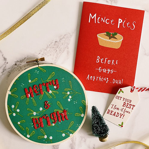 Merry & Bright Embroidery Hoop