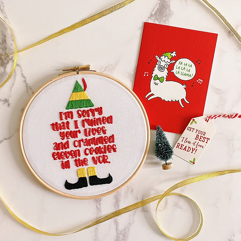 I'm Sorry That I Ruined Your Lives Embroidery Hoop