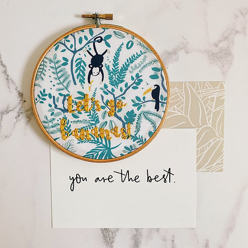 Let's Go Bananas Embroidery Hoop