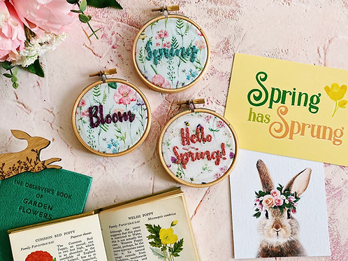 Mini Spring Embroidery Hoops