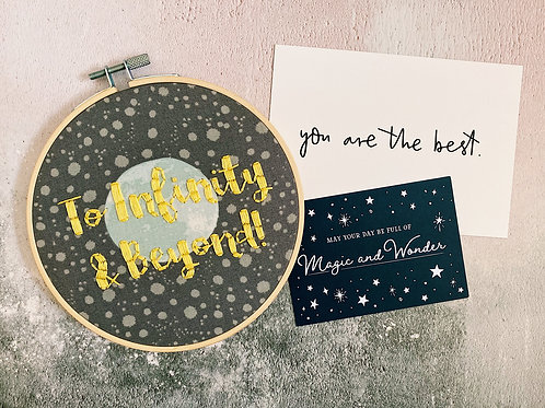 To Infinity & Beyond Embroidery Hoop