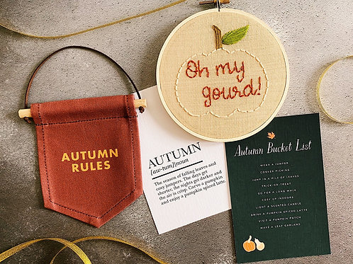 Oh My Gourd! Embroidery Hoop