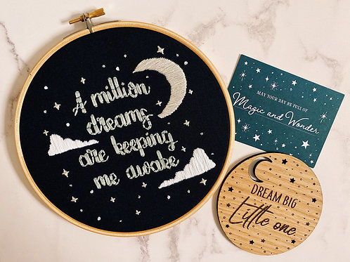 A Million Dreams Embroidery Hoop