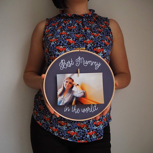 Best Mummy In The World Embroidery Hoop