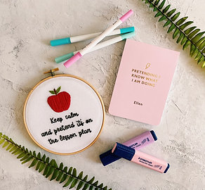 Keep Calm And Pretend It's On The Lesson Plan Embroidery Hoop