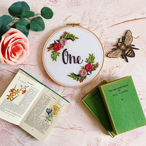 One Floral Embroidery Hoop