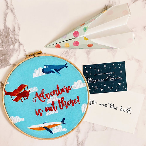 Adventure Is Out There Embroidery Hoop