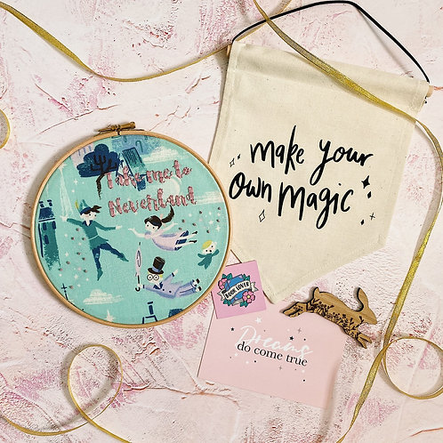Take Me To Neverland Embroidery Hoop