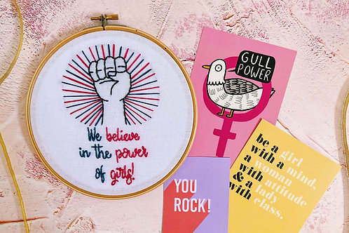 We Believe In The Power of Girls Embroidery Hoop