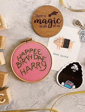 Personalised Happee Birthdae Embroidery Hoop