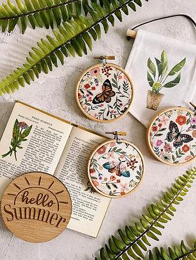 Beautiful Butterflies Mini Embroidery Hoops