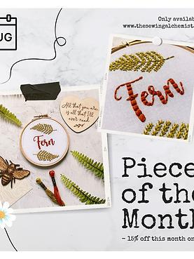 Personalised Name Botanical Embroidery Hoop