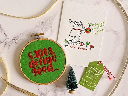Santa, Define Good Embroidery Hoop