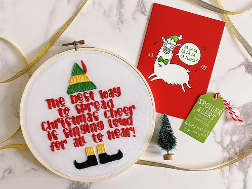 The Best Way To Spread Christmas Cheer Embroidery Hoop