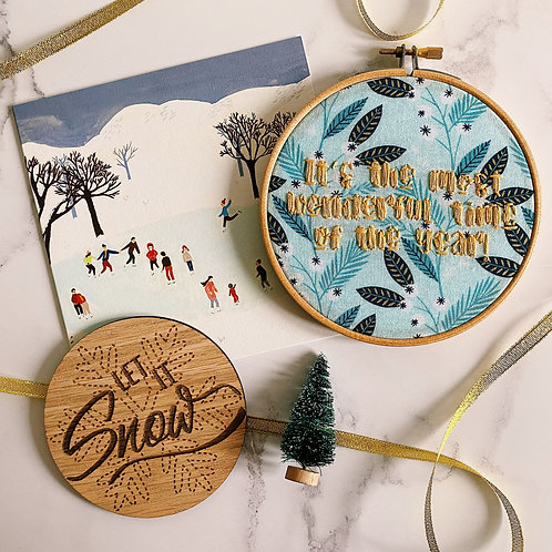 It's The Most Wonderful Time Of The Year Embroidery Hoop