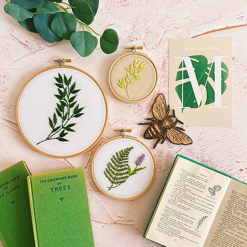 Botanical Embroidery Hoop