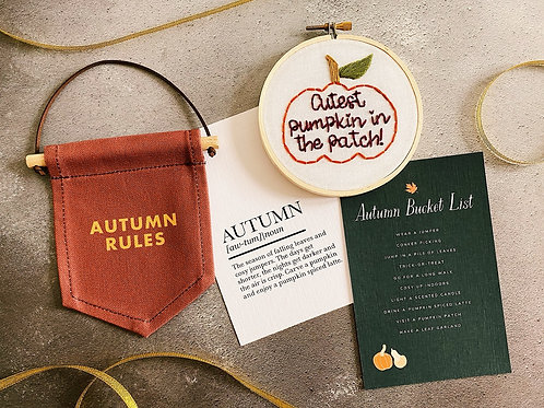 Cutest Pumpkin In The Patch Embroidery Hoop