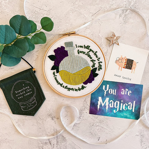 The Potions Master Quote Embroidery Hoop
