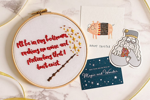 I'll Be In My Bedroom Embroidery Hoop