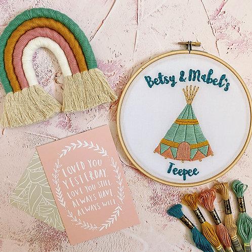 Teepee Embroidery Hoop