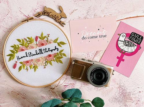 Floral Frame Embroidery Hoop