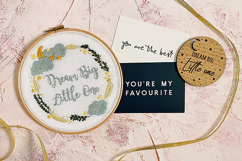 Dream Big Little One Embroidery Hoop