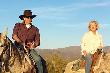 Horseback Riding Pic - Ron and Jolie Sun