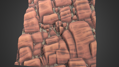 Stylized Cliff Rock
