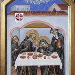 Icona dell'ultima cena dei santi Benedetto e Scolastica