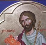 Icona di san Giacomo Apostolo, dettaglio