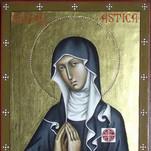 icona di santa Scolastica