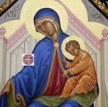 """Madonna """"aiuto dei cristiani perseguitati"""", dettaglio"""