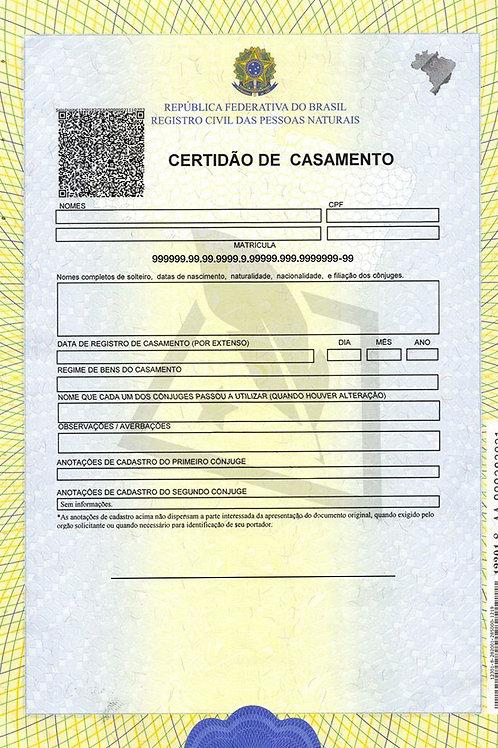 Certidão Casamento - Brasil