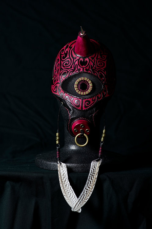 "Leather half mask"" Oni  """