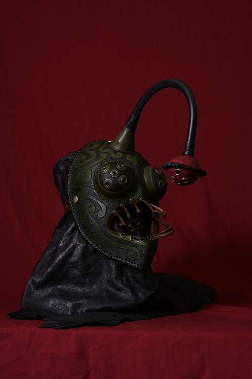 "Leather half mask""Angler fish"""