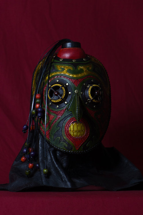 "Leather half mask ""Enma"" 閻魔"