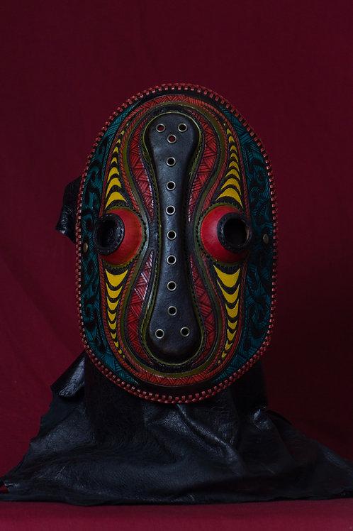 "Leather half mask""Hypnotist"""