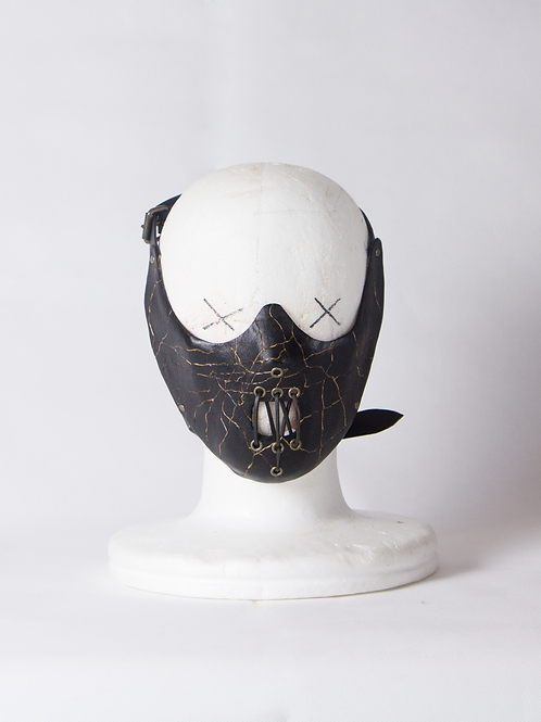Lector leather half mask