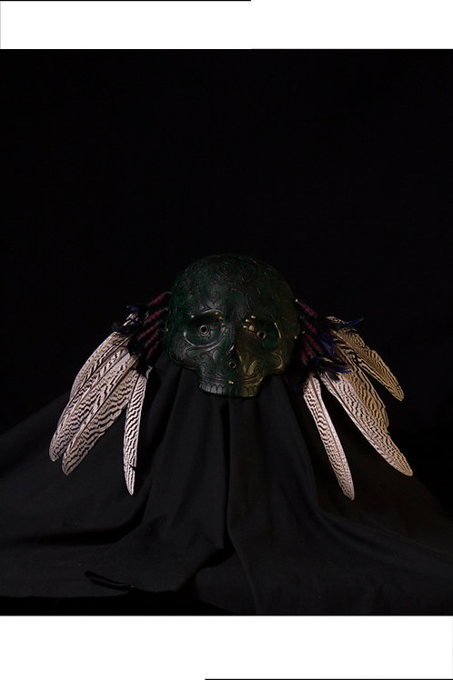 "Leather half mask""Shaman's mask"""
