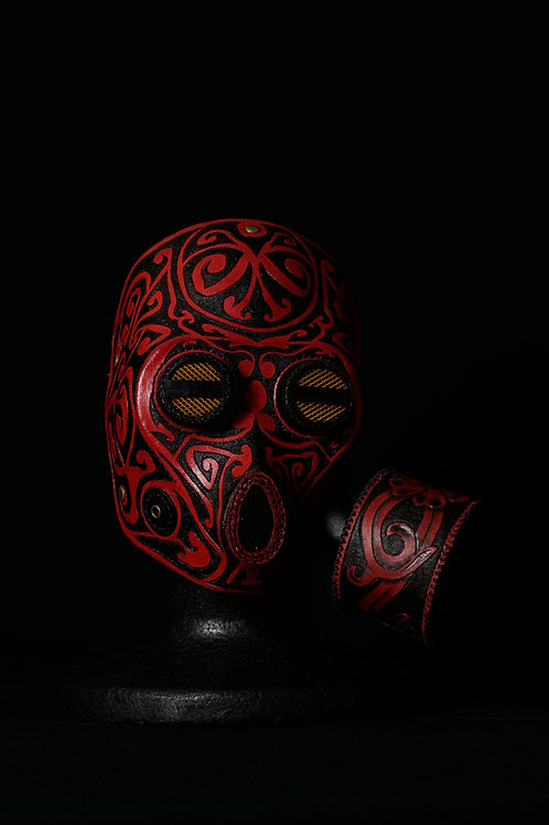 "Leather half mask"" Octopus """